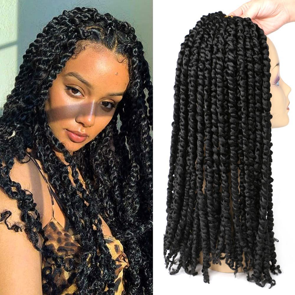 DAIRESS Pre-twisted Passion Twist Hair Crochet Braids 18
