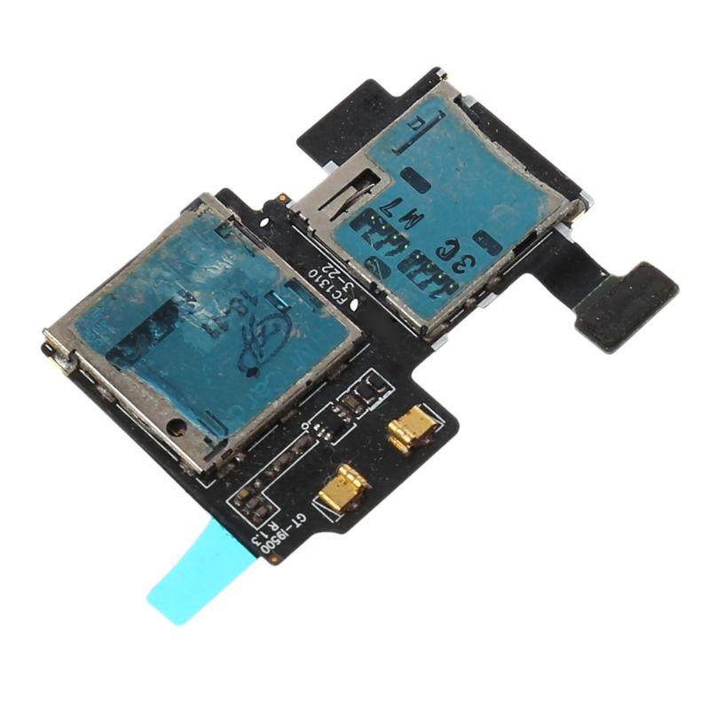 Micro SD Card Tray SIM Holder Slot Reader Flex Cable For Samsung Galaxy S4 I9500 I9505