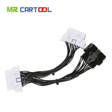 OBD2 II Extension Cable One 16Pin Male Port to Dual 16 Pin Female Port OBD 2 ODB2 Car Diagnostic Connector