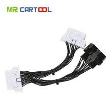 OBD2 II rozszerzenie kabel jeden 16Pin mężczyzna Port do podwójny 16 Pin żeński Port OBD 2 ODB2 samochodu złącze diagnostyczne