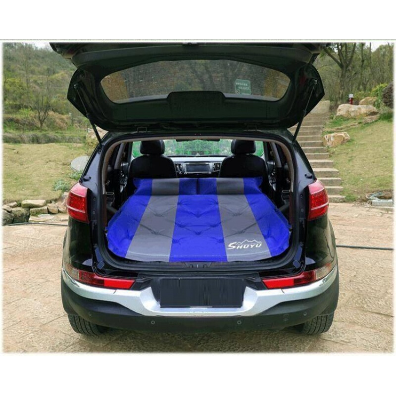 1pc Car Automatic Air Bed SUV Trunk Travel Air Bed Mattress Portable Camping Outdoor Mattress Support For 2-3 People image