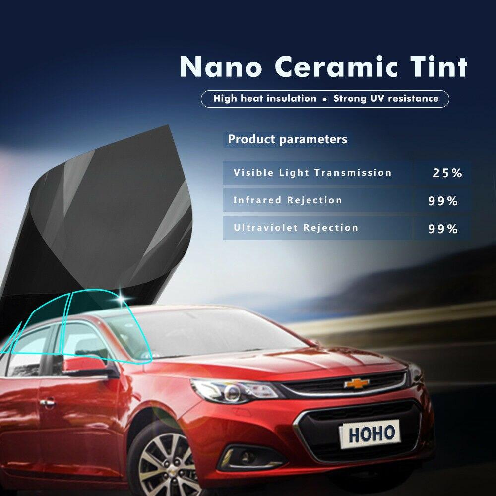 1.52x12m Sunice 25% VLT Film de fenêtre Nano céramique teinte solaire noir voiture bureau à domicile verre résistant aux rayures Film chaleur rejet
