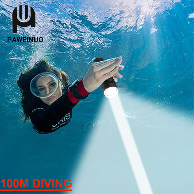 10000Lm 100M Underwater XM-L T6//L2 LED Scuba Diving 18650 Flashlight Torch Lamp