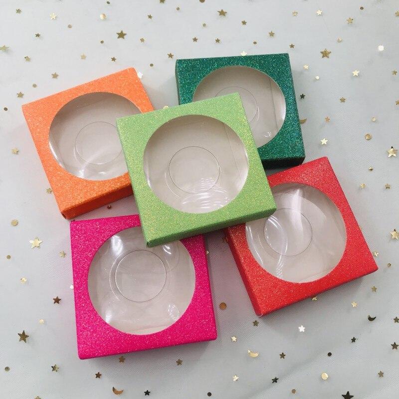 3d cilios caixas quadrado caixa de chicote colorido cilios pacote personalizado rotulo privado logotipo caixa de