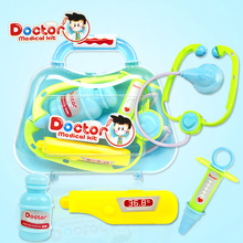 Doctor toys set simulation medical medicine box children pretend play doctor role game puzzle toy child gifts