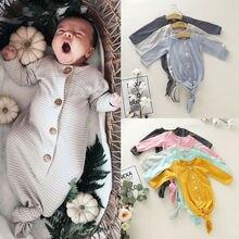 Новинка; одежда для сна в полоску для новорожденных мальчиков и девочек; спальный мешок; одежда для сна; шляпа