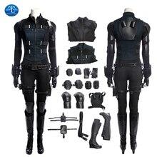 Black Widow Cosplay Avengers Infinity War Natasha Romanoff Cosplay Costume Carnaval Halloween Costumes For Women Full Set