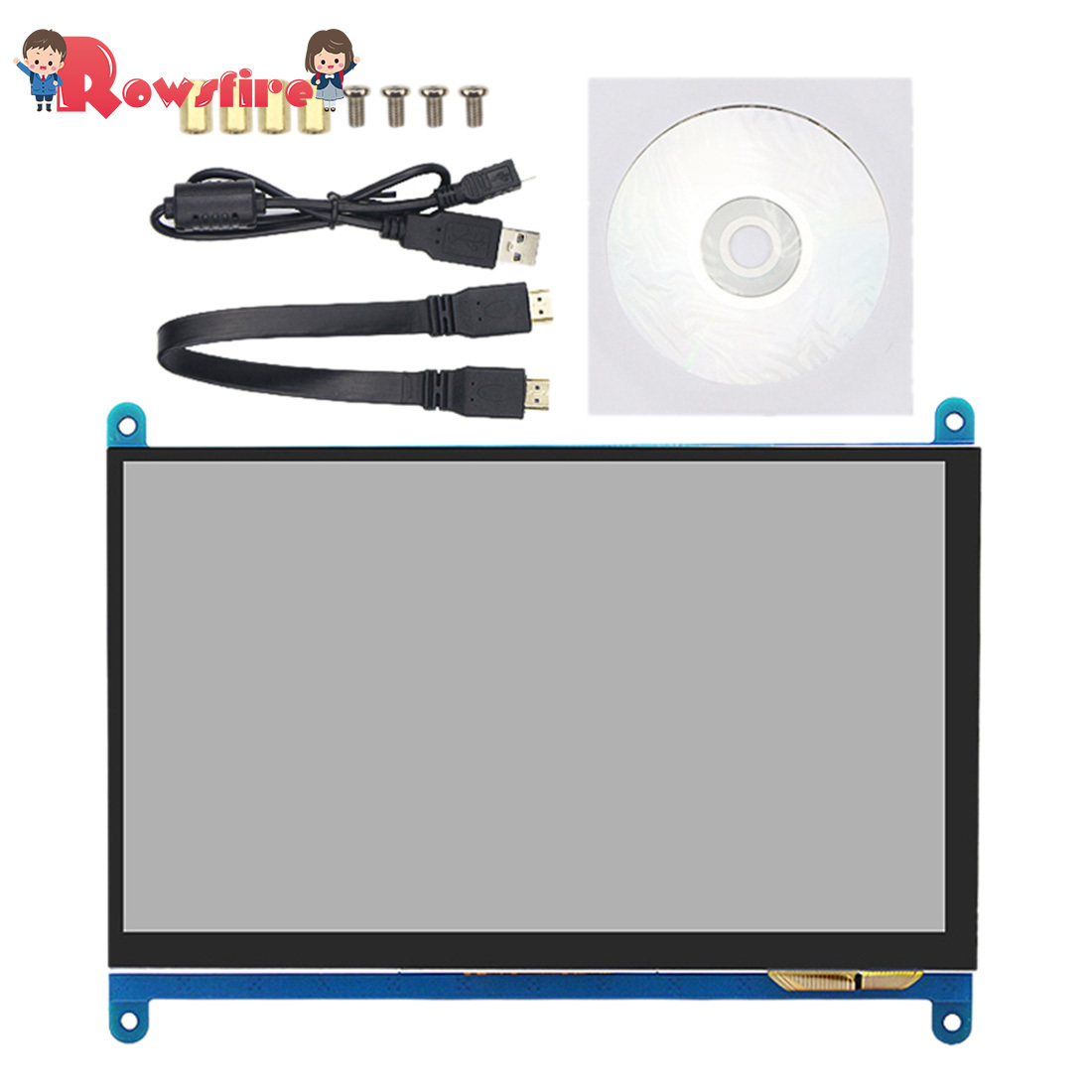 7-inch HD 1024*600 Touch Display Screen Capacitive Touch Screen For Raspberry Pi 3B+/3B/2B
