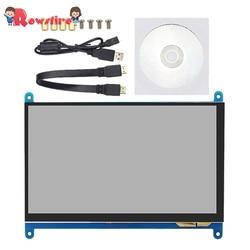 7-zoll HD 1024*600 Touch Display Bildschirm Kapazitiven Touchscreen für Raspberry pi 3B +/3B /2B