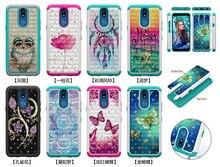 Paillettes diamant coques de téléphone pour LG K40 K12 Plus PC étui hybride en Silicone pour Google Pixel 3a 3a XL accessoires de couverture arrière de mode