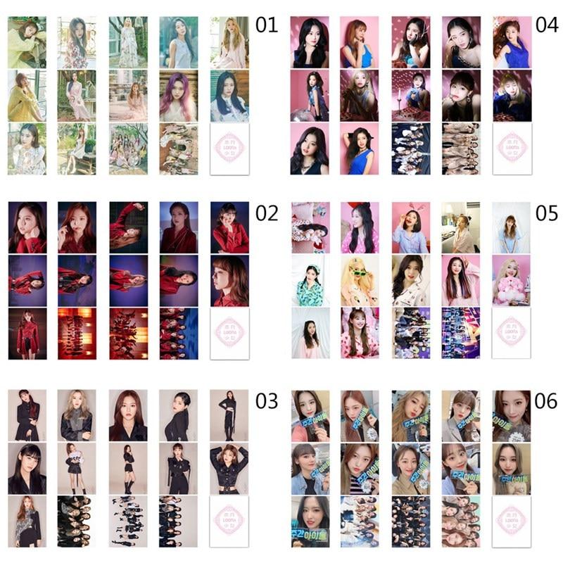 14pcs/set KPOP LOONA Girls Team Album Butterfly Photo Card PVC Cards Self Made LOMO Card Photocard