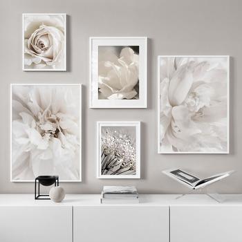 Biały dmuchawiec piwonia róża kwiaty obraz ścienny na płótnie Nordic plakaty i druki ściana roślin zdjęcia na wystrój salonu tanie i dobre opinie CN (pochodzenie) Wydruki na płótnie Oddzielna PŁÓTNO Wodoodporny tusz Flower bez ramki Nowoczesne G4355 Malowanie natryskowe