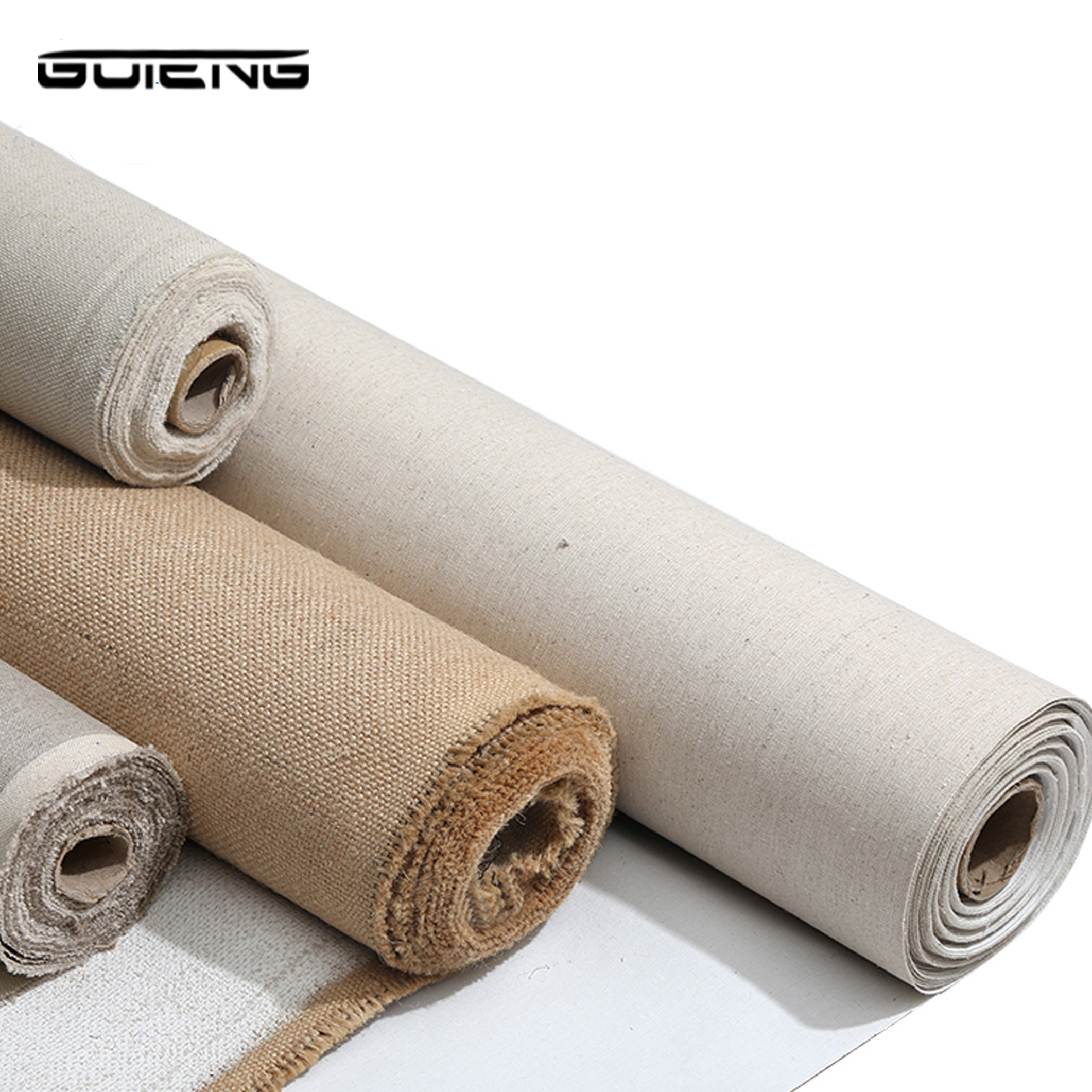 Linen Blend Primed Blank Canvas For Painting High Quality Layer Oil Painting Canvas 1m One Roll ,28/38/48/58 Width image