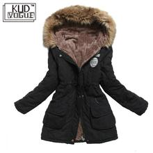 Winter Jacket Women Thick Warm Hooded Parka Mujer Cotton Padded Coat Long Paragr
