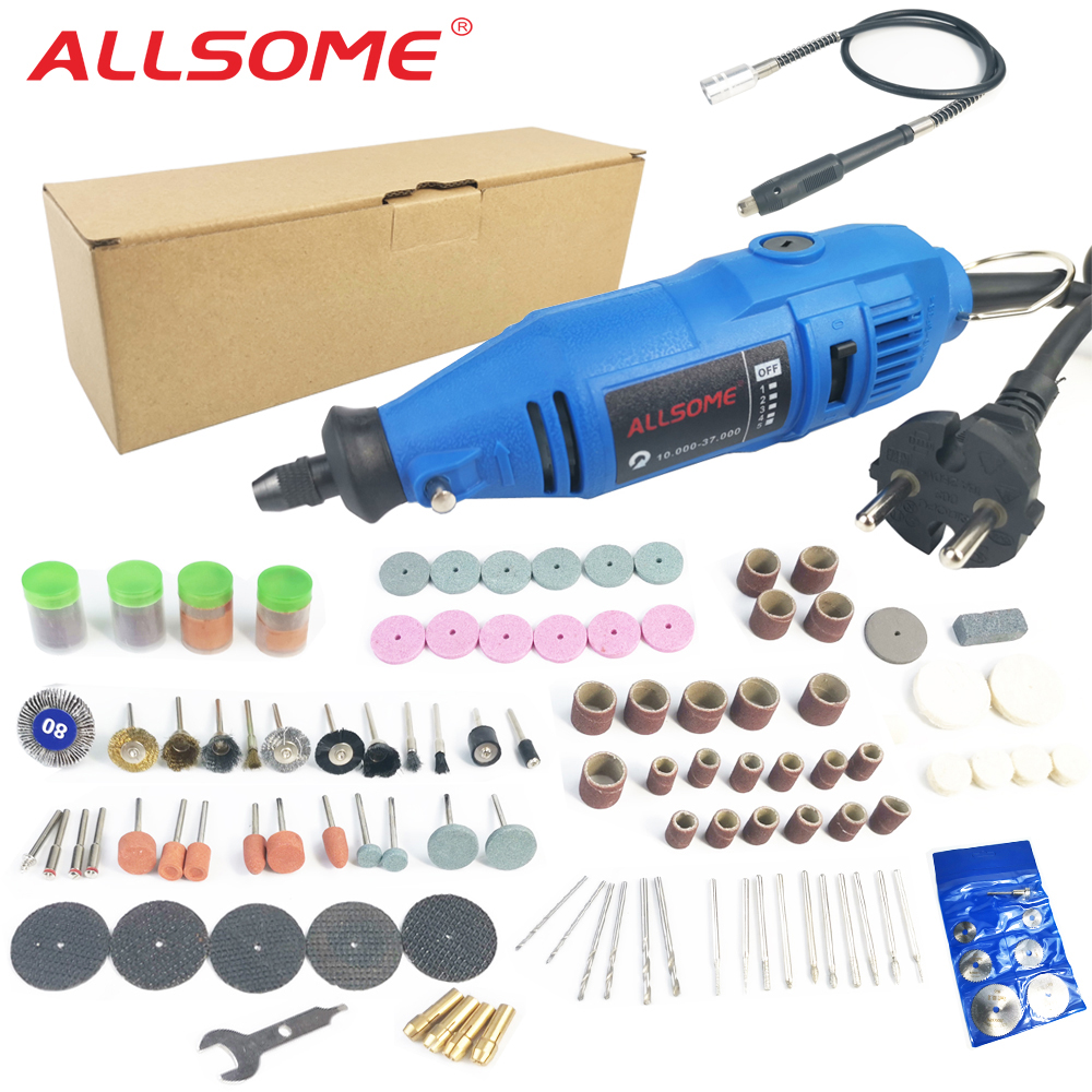ALLSOM 180W Electric Dremel Engraving Mini Drill Polishing Machine Variable Speed Rotary Tool With 148pcs Accessories HT2831
