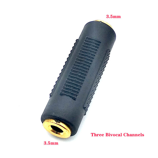 New 3.5 mm Female to 3.5mm Female Jack Stereo Connector Coupler Adapter Audio Cable Extension for MP3 DVD Headphone Car AUX