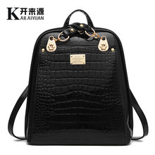 100% Genuine leather Women Backpack 2019 Backpack Backpack Bag NEW fashionista new students are bright skin Korean women(China)