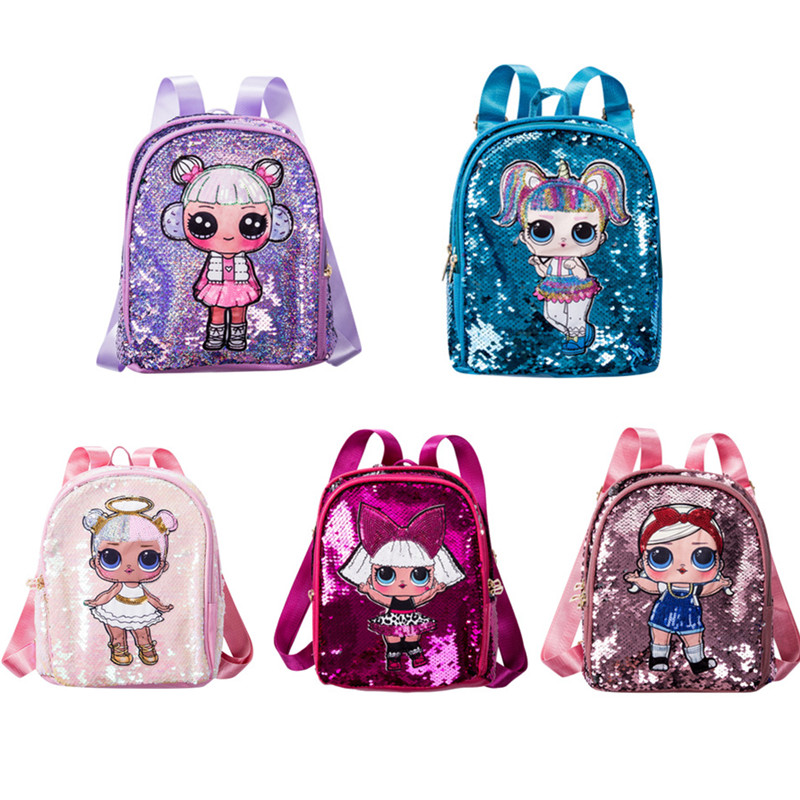New Lol Surprise Dolls Children Sequins Tide Sequins Backpack Cute Fashion Double Zipper Small Fresh Kids Toy Bag Xmas Gift Buy At The Price Of 15 53 In Aliexpress Com Imall Com