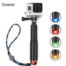Gosear 水中一脚 Selfie スティックポール & リストバンド移動プロ囲碁プロヒーロー 5 4 3 プラス 2 Sjcam Xiaomi 李 4 18k アクションカメラ
