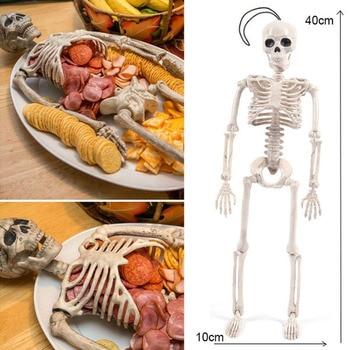 40cm Halloween Skeleton Plastic Human Skeleton Anatomical Model Skeleton for Halloween Party Haunted House Decoration Props Toys bix a1002 84cm human skeleton model g165