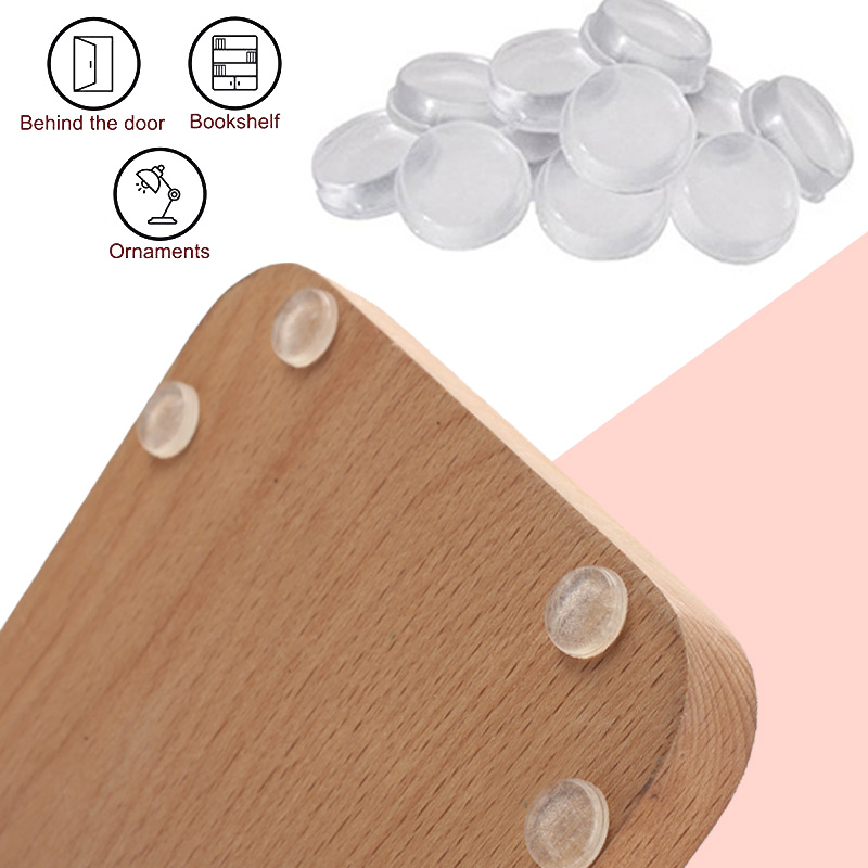 Rubber Feet Pads Silicone Feet Pads Rubber Bumper Damper Durable Multi-Function Convenient Cylindrical 64pcs 12*12*2mm