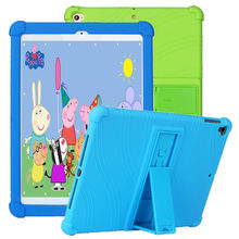 Soft Silicone for Ipad Air 2 Case 2018 A1566 A1567 Kids Full Protective Cover for Iapd 5 /6 /7 Skin Shell Funda Capa 2017(China)