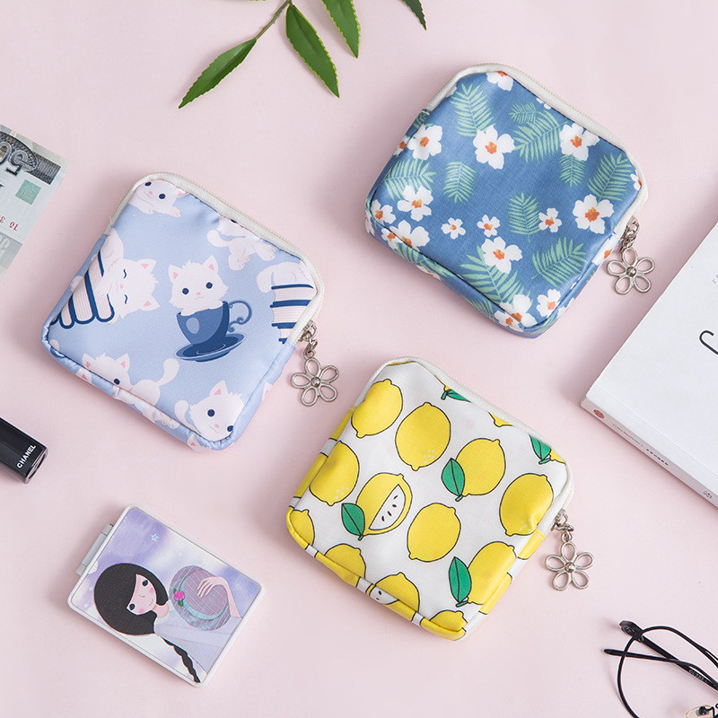 New Travel Packing Bags Women Girl Small Cute Coin Card Money Key Lipstick Cosmetic Sanitary Napkin Earphone Storage Bags