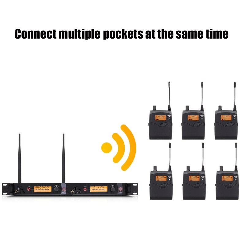 NTBD etapie wydajności dźwięku transmisji SR2050 profesjonalny bezprzewodowy douszne System monitorowania 2 nadajniki przywrócić prawdziwy dźwięk