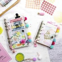 MyPretties 6 Hole Binder Organizer a7 a6 a5 DIY Planner Agenda Diary Journals Transparent Notebook PVC Binder Cover