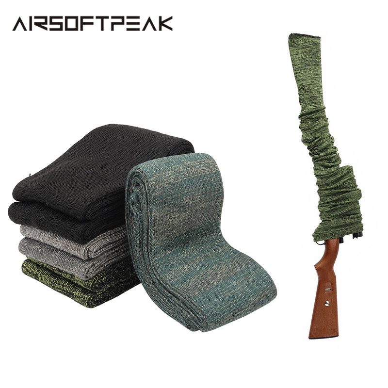 Tactical Rifle/Pistol Gun Sock Dustproof Polyester Knit Silicone Socks Protection Cover Case Moistureproof Storage Bags Hunting