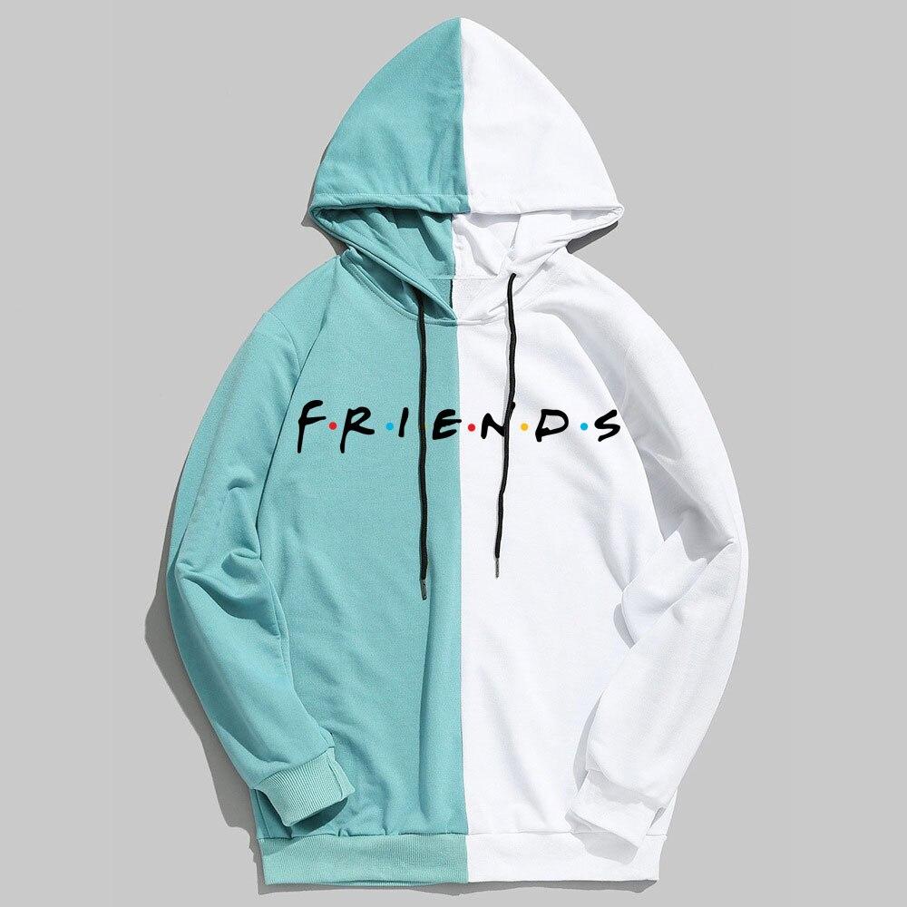 Friends Women Men Hoodies Harajuku Letters Print Pullovers Hip Hop Loose Solid Female Sweatshirts Streetwear Hip Hop Hoodie