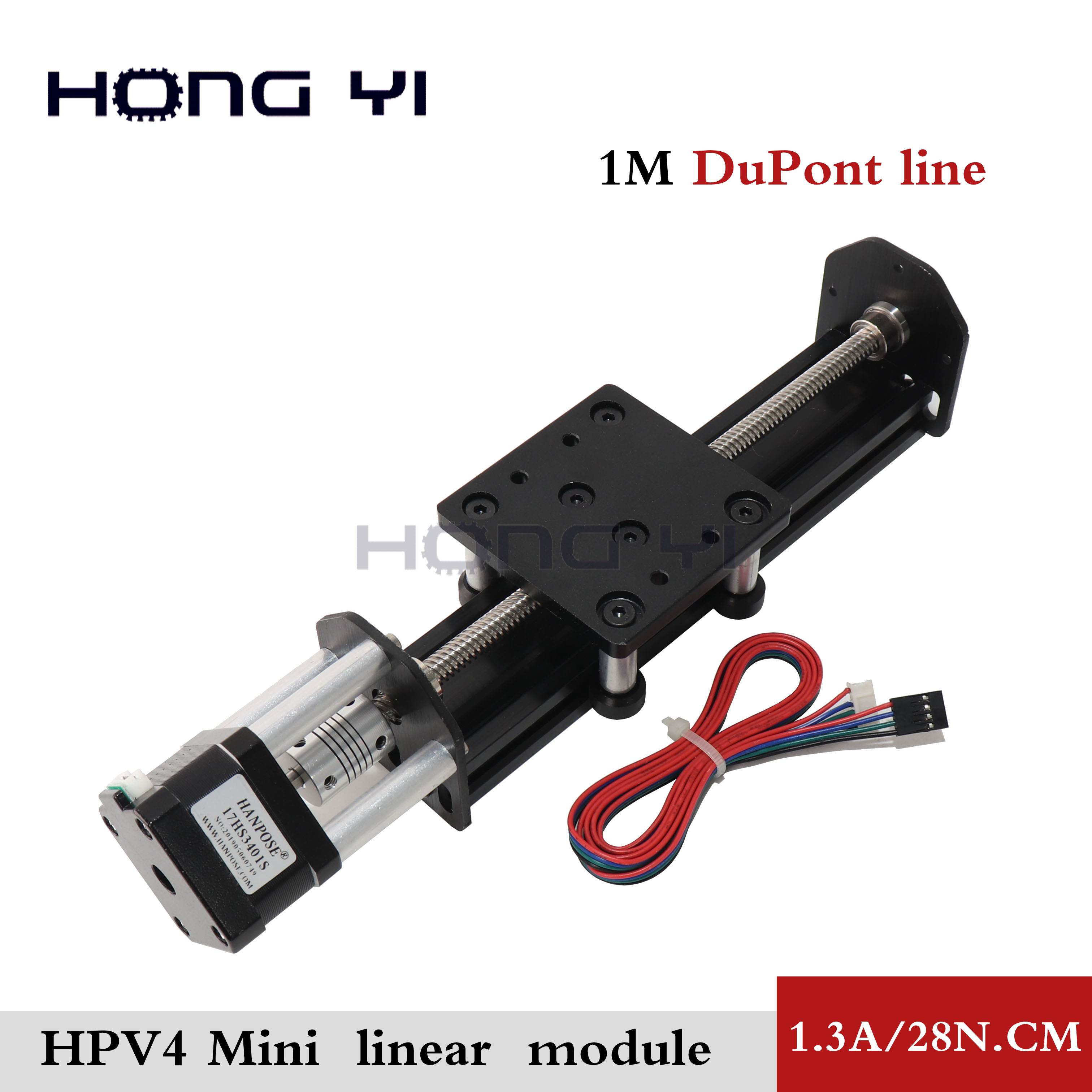 Openbuilds Mini V linear actuator Linear module HPV4 with 42 NEMA 17 stepper motor 17hs3401 1.3A 34mm for Reprap 3D printer