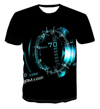 3D new print personalized clock geometry T-shirt Fashion Street Style Men's summer short sleeve top T-shirt s-6xl stylish men s women s wine glass digital print 3d print casual t shirt harajuku style t shirt street top s 7xl free shipping