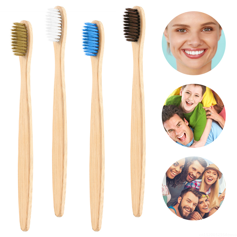 Wholesale 1PC Environmental Charcoal Bamboo Toothbrush Medium Soft Bristle For Oral Care Teeth Cleaning Eco Adult Brushes