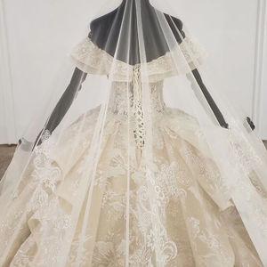 Image 5 - HTL1277 2020 nowa kula suknia ślubna sweetheart kołnierz off the shoulder lace up powrót projekt suknia ślubna vestido de noiva