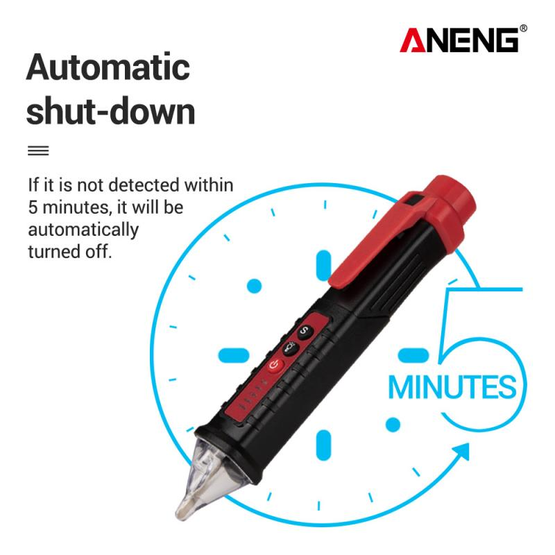 Digital Display Multi-function Induction Test Pencil Sound/Light Alarm AC / 12~1000V Non-Contact Voltage Detector