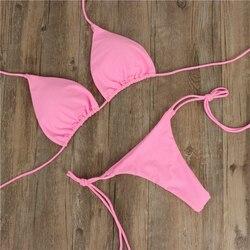 Сексуальный женский бикини бразильский купальный костюм пуш-ап бюстгальтер бикини комплект из двух частей купальный костюм Одежда для куп... 3