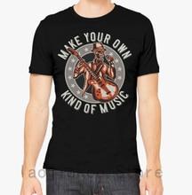 Rock T Shirt n Roll Music Skull shirt men tshirt man tops tee 100% cotton funny print Short Sleeve t-shirt