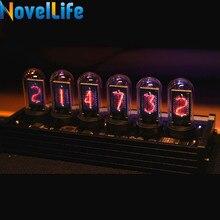 Elekstube ips nixie tubo relógio digital calendário eletrônico 6 bit lcd tempo photo display criativo retro decoração de mesa presente