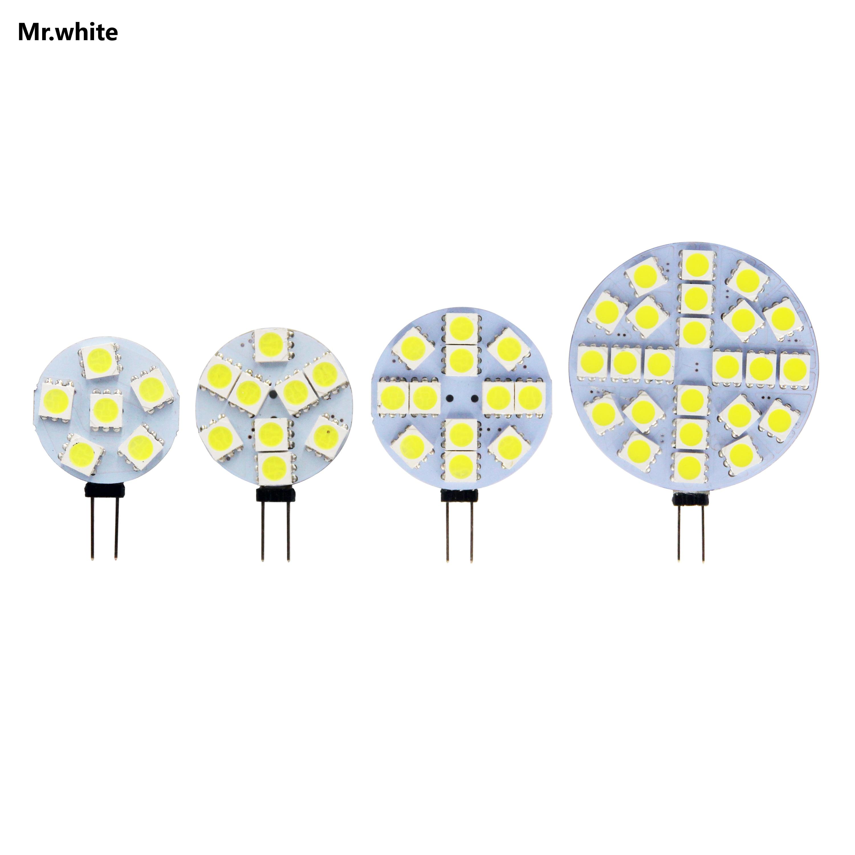 Hot G4 Lamp Bulb DC AC 12V 4.8W 2.4W 1.8W 1.2W SMD LED Warm Cold White Lighting Lights Replace Halogen Spotlight