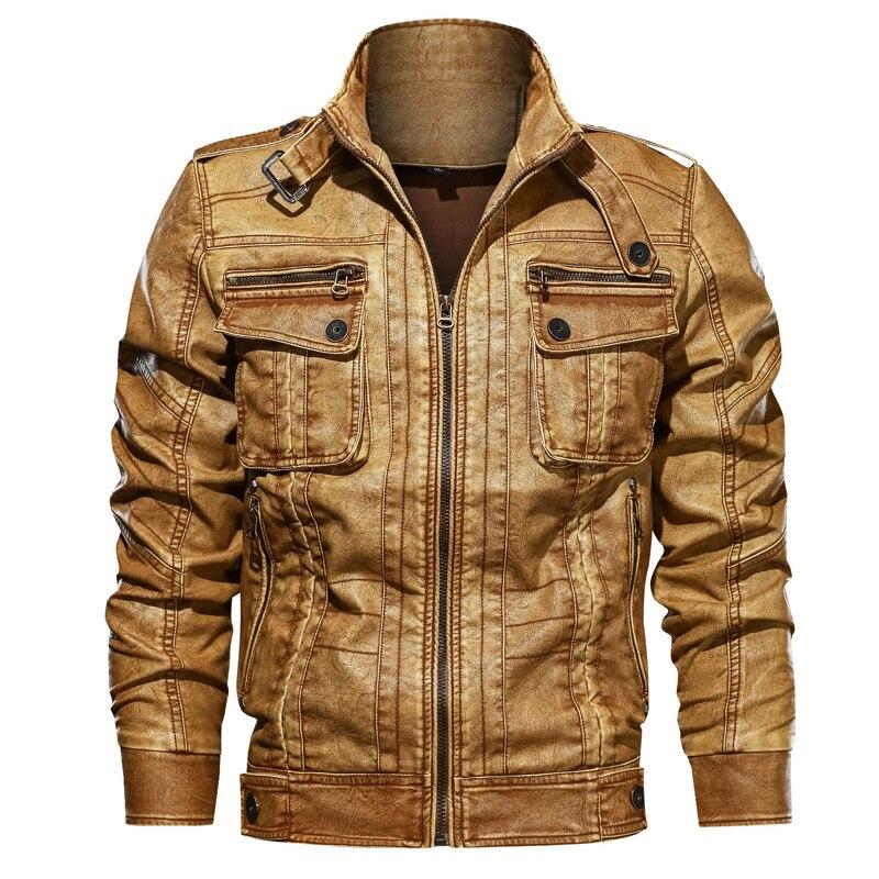 Pop cuir veste hommes VoguePU moto cuir vestes mâle Jaqueta Couro Masculina grande taille 5XL 6XL Jaket poche manteaux
