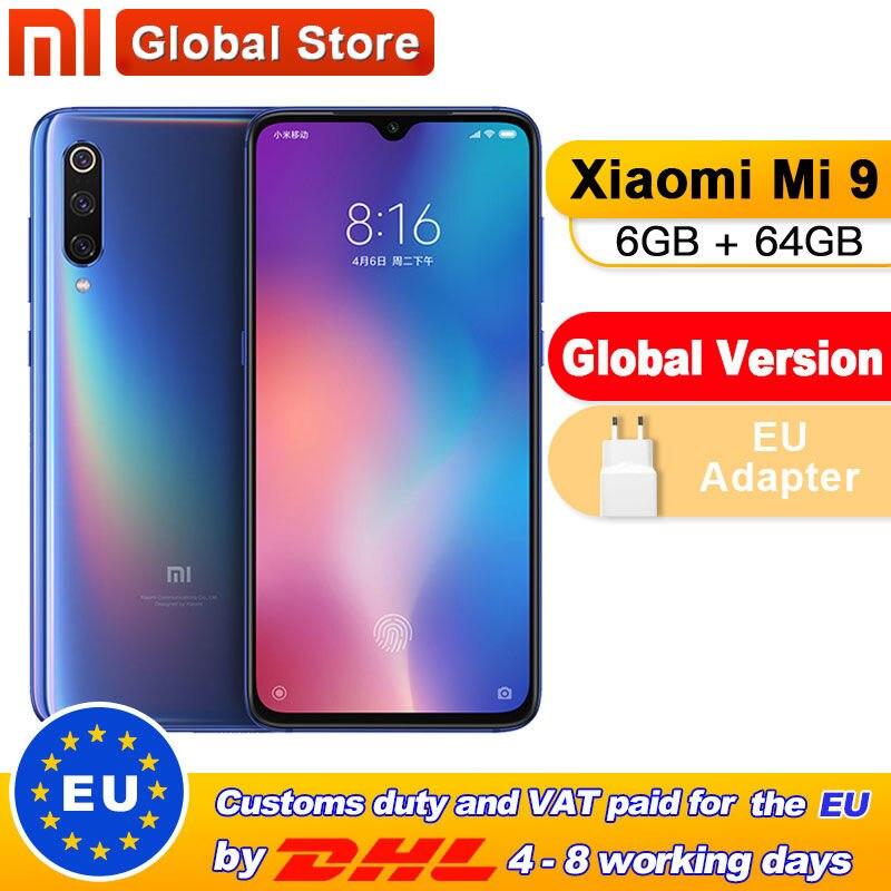 "Global Version Xiaomi Mi 9 Mi9 6GB 64GB Mobile Phone Snapdragon 855 Octa Core 6.39 ""48MP Triple Camera In Display Fingerprint"