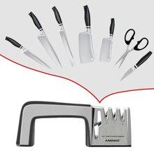 AMINNO aiguiseur de couteau pour couteaux pierre multifonctionnel professionnel pierre ensemble pour couteau aiguiseur aiguiseur ciseaux couteau