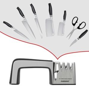 Image 1 - Afilador de cuchillos AMINNO para cuchillos, juego de piedra profesional multifuncional para cuchillos, afiladores, tijeras, cuchillos