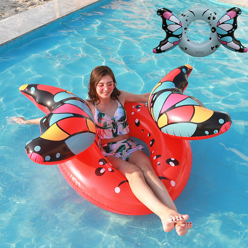 Butterfly Inflatable Swimming Ring Circle,inflatable Floating Mattress,new Summer Swimming Pool Toys For Adult