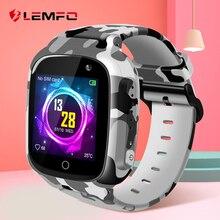 LEMFO LEC2 สมาร์ทนาฬิกาเด็ก GPS 600 MAh แบตเตอรี่เด็ก Smartwatch IP67 กันน้ำ SOS สำหรับเด็กรองรับถ่ายภาพ