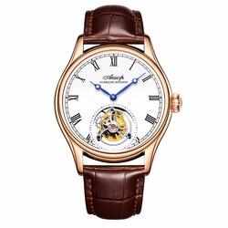 Novo 100% original de luxo tourbillon relógio masculino relógios mecânicos marca superior clássico relógio couro branco relogio masculino 7021