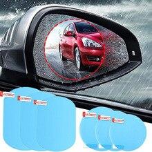 Universal 2 Pcs/Set Car Mirror Window Clear Film Anti Fog Car Rearview Mirror Protective Film Waterproof Car Sticker