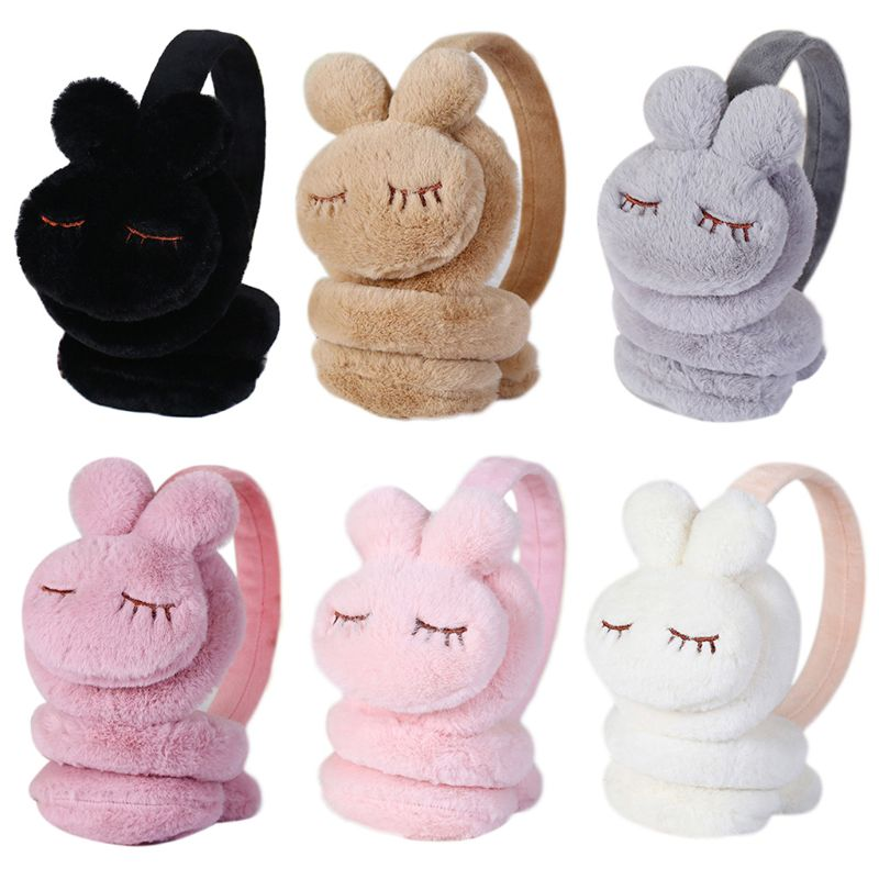 1pc Cute Cartoon Rabbit Thicken Plush Ear Cover Warmers Kids Winter Warm Earmuffs