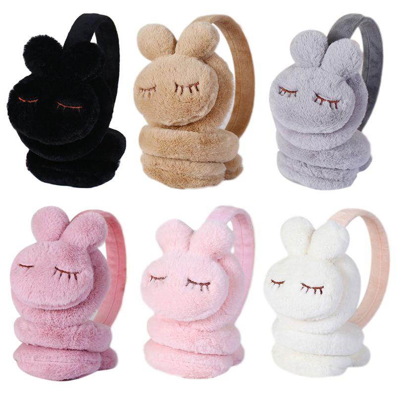 1pc Cute Cartoon Rabbit Thicken Plush Ear Cover Warmers Kids Winter Warm Earmuffs